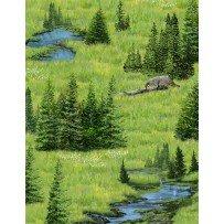 Oh Deer-woodland landscape scene