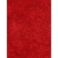 Essentials 108 Vintage Scroll - Red