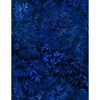 Essentials 108 Mottled Leaves - blue leaves on blue