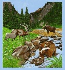 Open Sky - wildlife scene panel