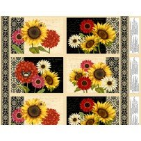 Sunset Blooms - Placemat Panel 12 Row