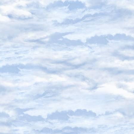 Bringing Home Christmas - Light Blue Cloudy Sky
