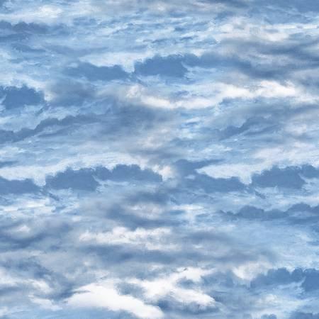 Bringing Home Christmas - Dark Blue Cloudy Sky