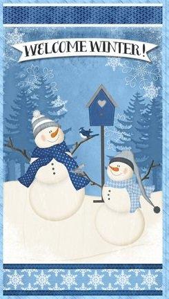 Welcome Winter - Snowmen & birdhouse panel