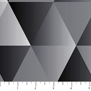 Majestic - large black & grey triangles