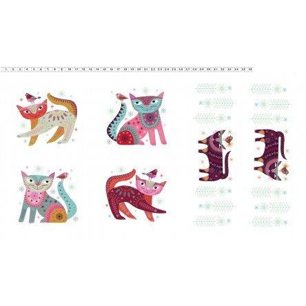 Stitch Cats - cat panel
