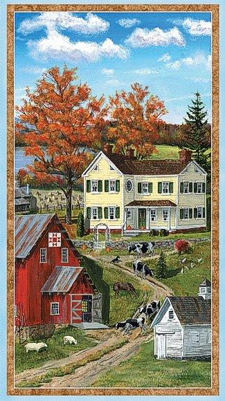 Autumn Grove - quilt barn & farm scene