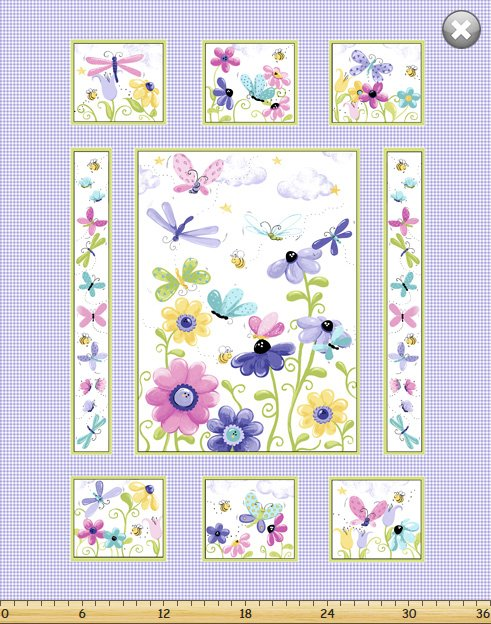 Flutter, the Butterfly - butterfly floral panel