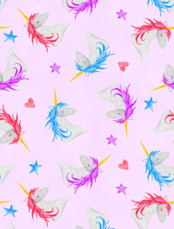 Sparkle Magic Shine - unicorns heads on lavender