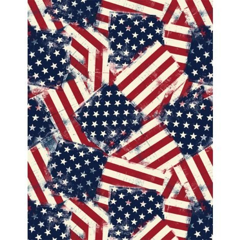 American Valor - overlapping flags