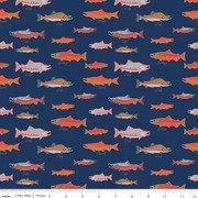 Northwest - salmon on navy