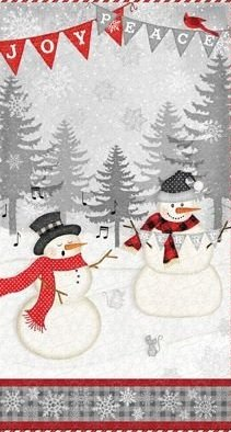 Snowy Wishes - snowman panel