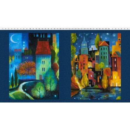 City Dreams - cityscape nighttime panel brighter