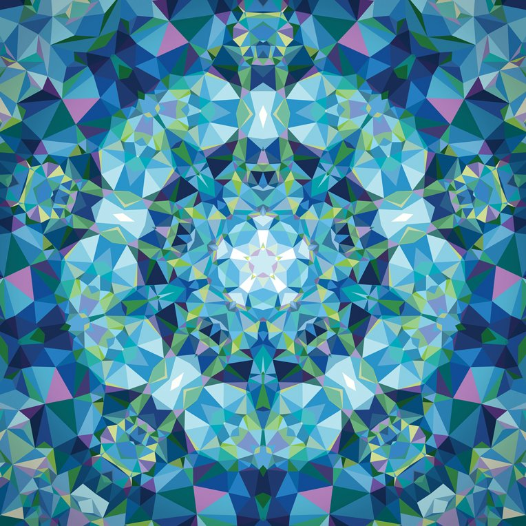 Gradients Kaleidoscope - blue panel