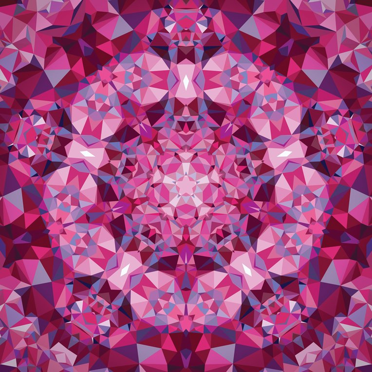Gradients Kaleidoscope - pink panel