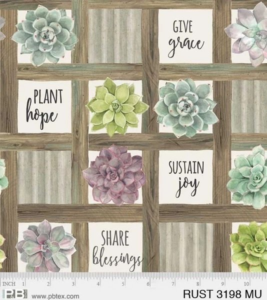 Rustic Rosettes - inspiration words/flowers