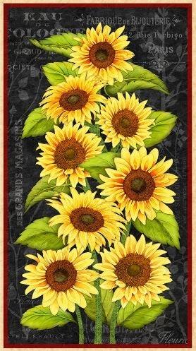 Jardin Du Soleil - sunflower panel