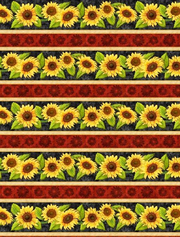 Jardin Du Soleil - sunflower border stripe