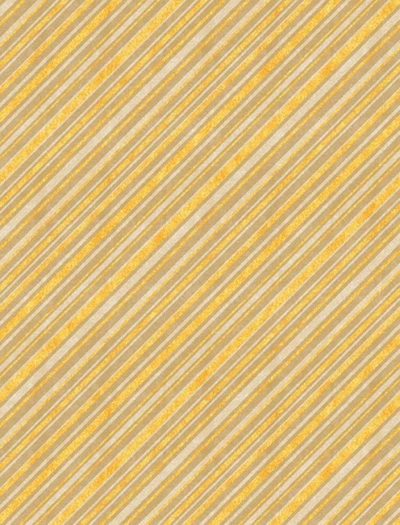 Jardin Du Soleil - yellow/tan/cream diagonal stripe