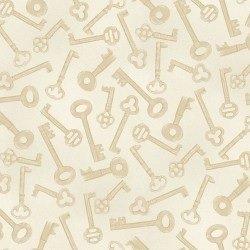 Aubergine - tan old fashioned keys on cream