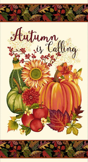 Autumn Is Calling - fall harvest panel
