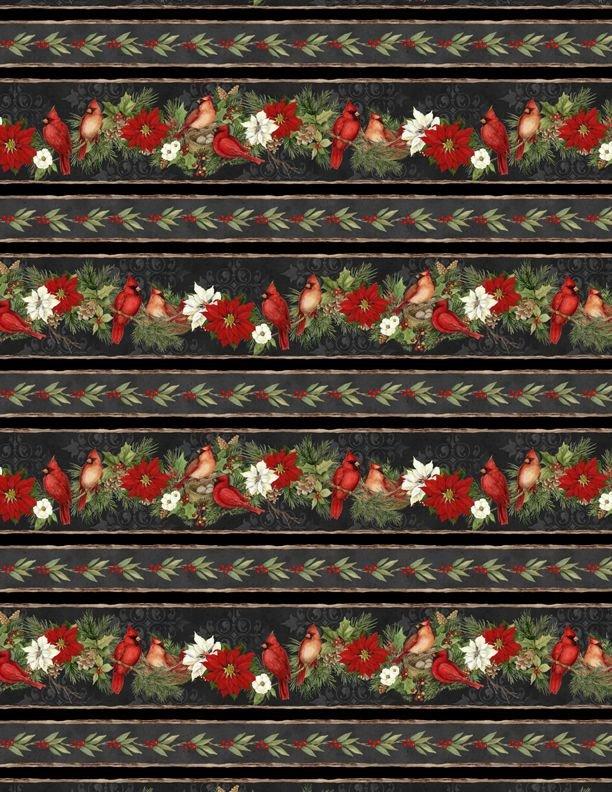 Cardinal Noel - cardinal border stripe