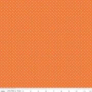 Swiss Dot - white pindot on orange