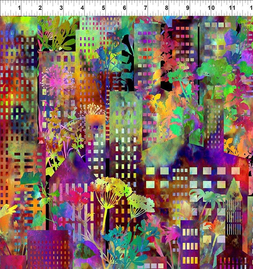 Urban Jungle - bright florals & cityscape