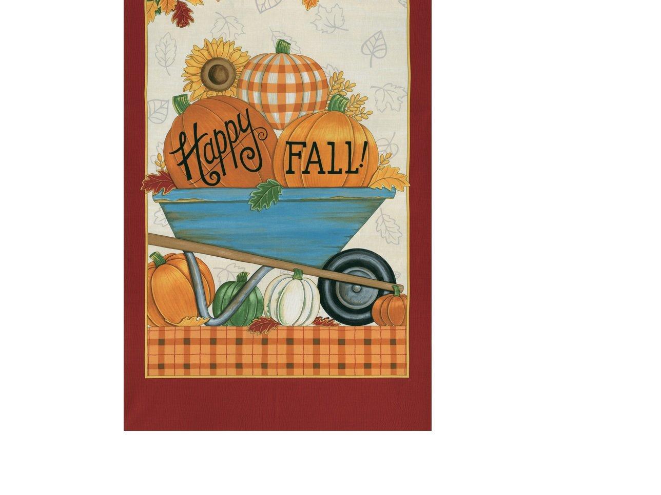 Happy Fall - wheelbarrow/pumpkin panel