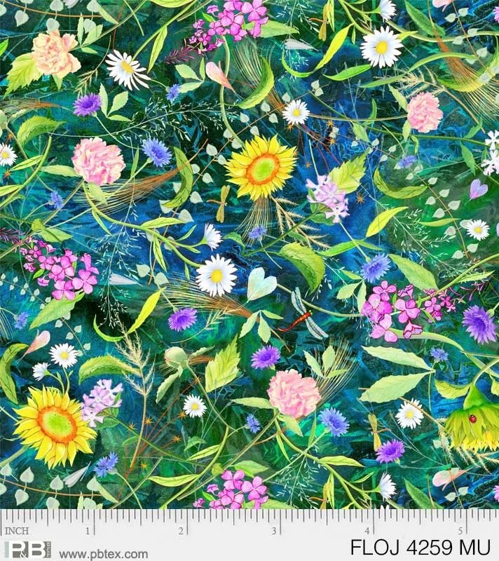 Floral Jewels-overall meadow scene