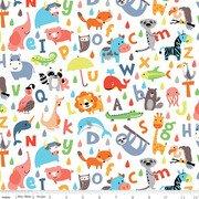 Noah's Ark - animals/letters on white