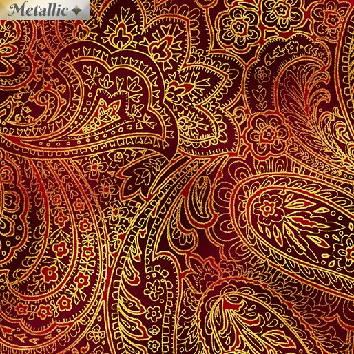 Radiant Paisley - Red & gold