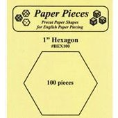 1 Hexagon Paper Pieces 100 pack