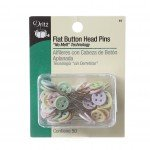 Button head flat pins size 24 50 count
