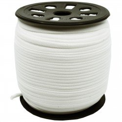 Banded Stretch Elastic - White
