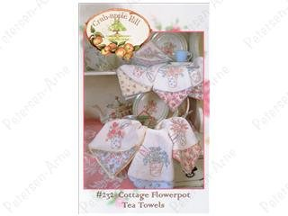 Cottage Flowerpot Tea Towels
