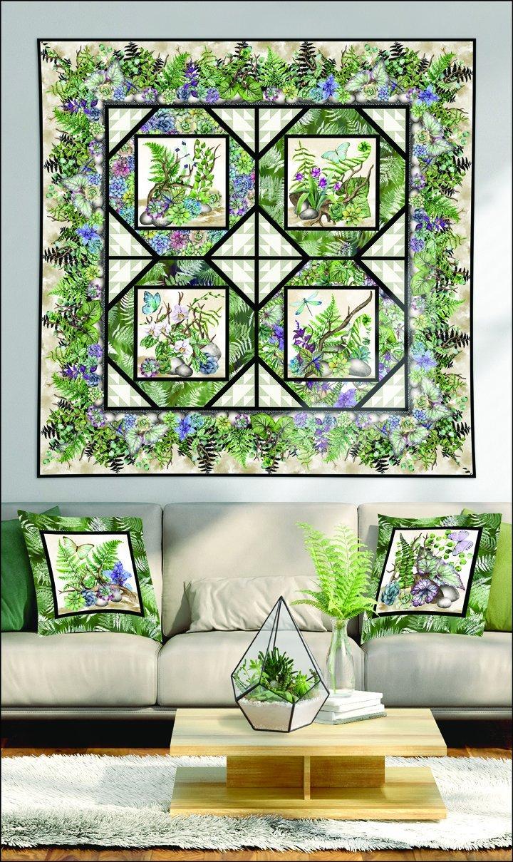 Terrarium Quilt & Pillow
