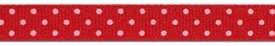 3/8 Swiss dot grosgrain-red with white