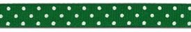 3/8 Swiss dot grosgrain-emerald