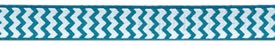 3/8 Chevron grosgrain-tropical/white