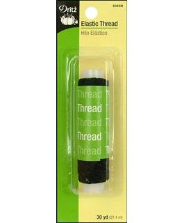 Black elastic thread