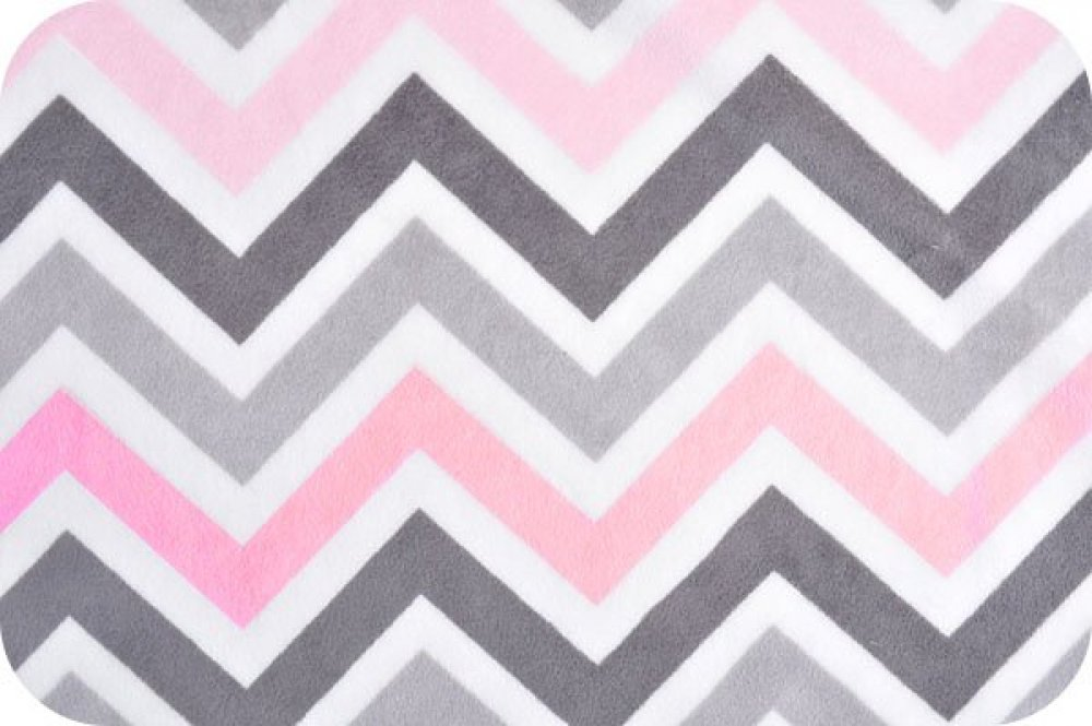 You-Pick Snuggle Blanket Top - Pink & Gray Chevron Print