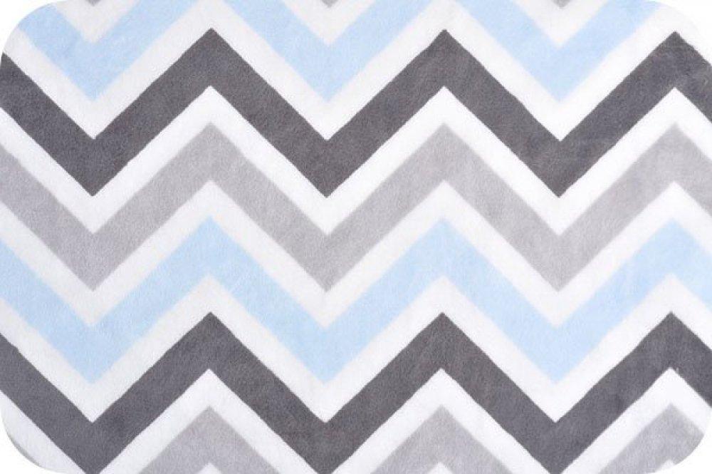 You-Pick Snuggle Blanket Top -Blue & Gray Chevron Print