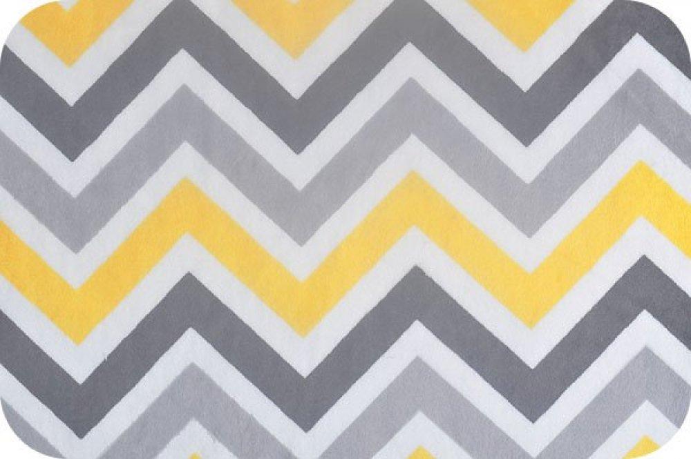 You-Pick Snuggle Blanket Top - Yellow & Gray Chevron Print