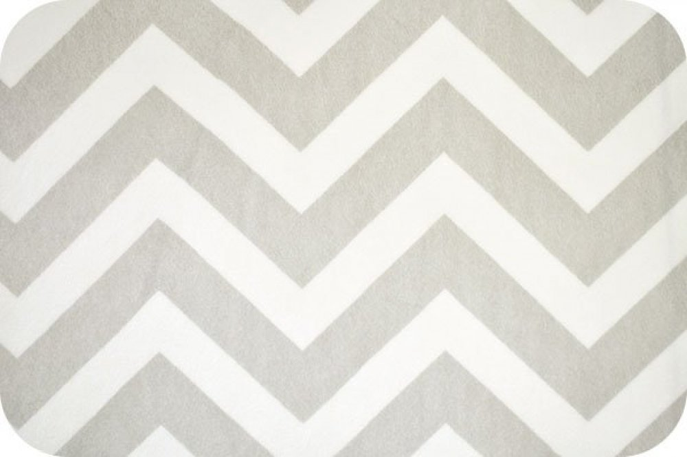 You-Pick Snuggle Blanket Top - White & Gray Chevron Print