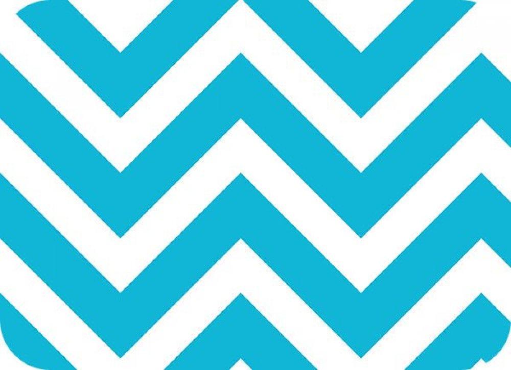 You-Pick Snuggle Blanket Top - Blue & White Chevron Print