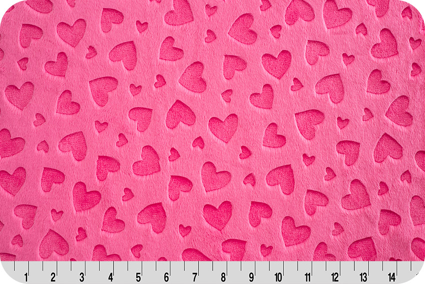 Fuschia Quilt back Embossed Heart 45 x 60
