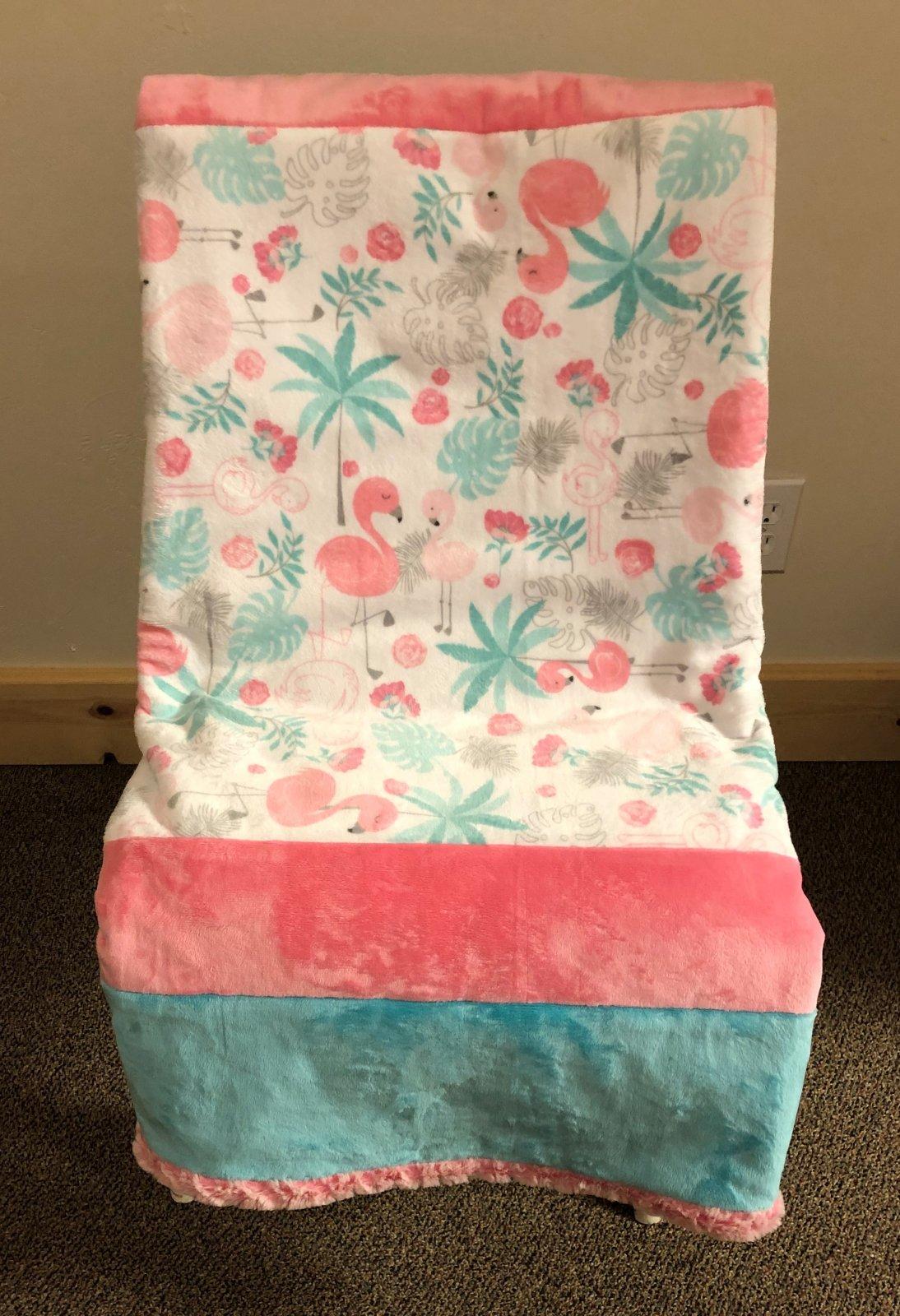 Flamingo Crib quilt 45 by 60