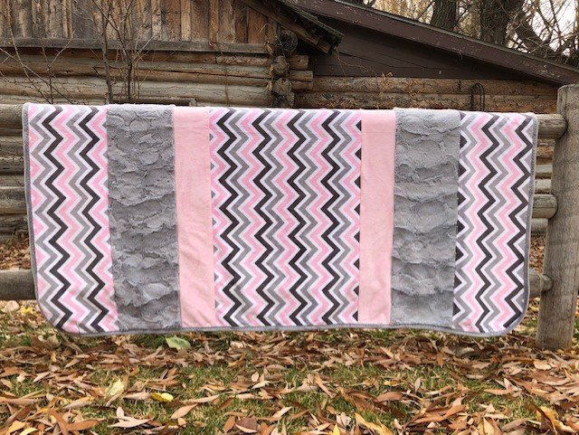 Pink and Silver Chevrons