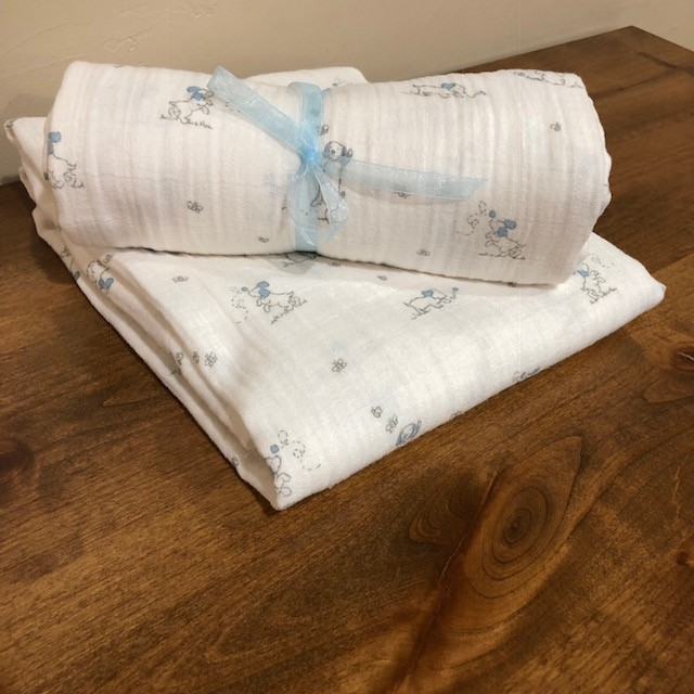 Blue Puppies Embrace Swaddle Kit
